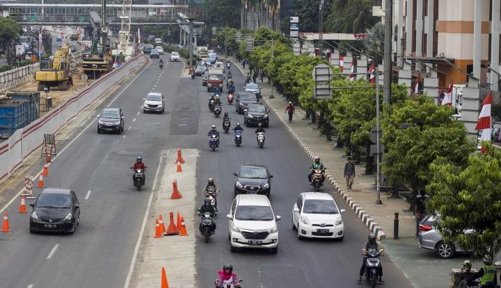Foto Berita Ujicoba Sistem Satu Arah Jalan dari Arah Sarinah Diklaim Sukses