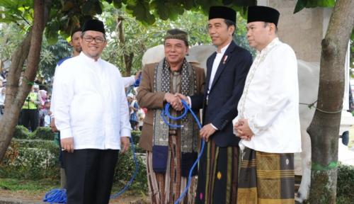 Foto Jokowi Janji Bakal Sering 'Blusukan' ke Pondok Pesantren