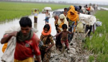 Foto PBB: Eksodus Rohingya ke Bangladesh Tembus 400.000 Orang