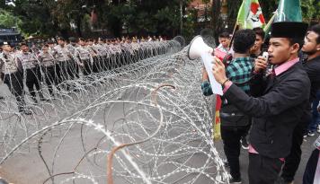 Foto Polisi Tetapkan 14 Tersangka Kericuhan Pilkada Tapanuli Utara
