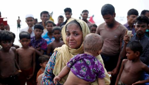 Foto Parah! Tentara Myanmar Bantah Persekusi Sistematis Muslim Rohingya