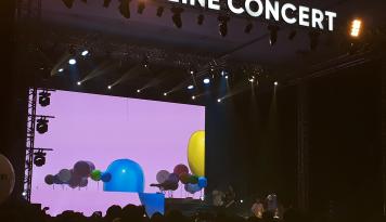 Foto Line Concert Padukan Penampilan Musisi dan Berbagai Aplikasi Line