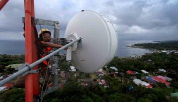 Foto Pelanggan Telkomsel di Perbatasan Nunukan Capai 75 Persen