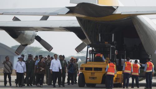 Foto Pesawat Bantuan Indonesia Diizinkan Masuk Bangladesh Kamis Sore