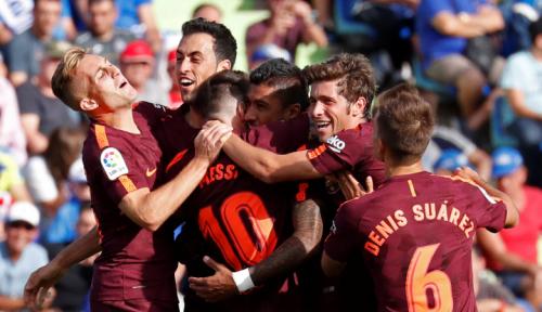 Foto Bekuk Girona 3-0, Barcelona Kukuh di Puncak Klasemen