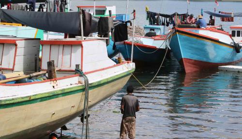 Foto DKP Bagikan 35 Kapal Ikan kepada Nelayan