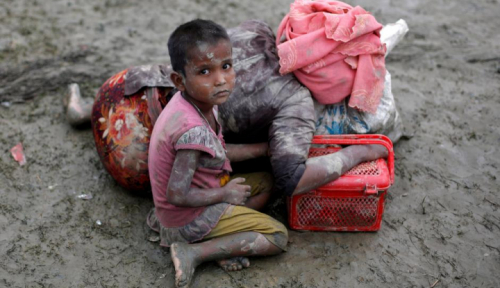 Foto PBB: Eksodus Rohingya Lebih Parah dari Tragedi Srebrenica