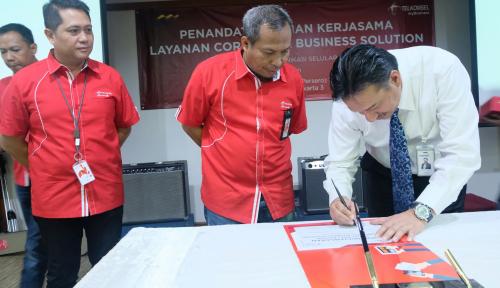 Foto Telkomsel Fasilitasi Akses Bisnis Korporasi Bank Mandiri