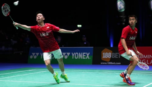 Foto Duo Minion ke Semifinal All England