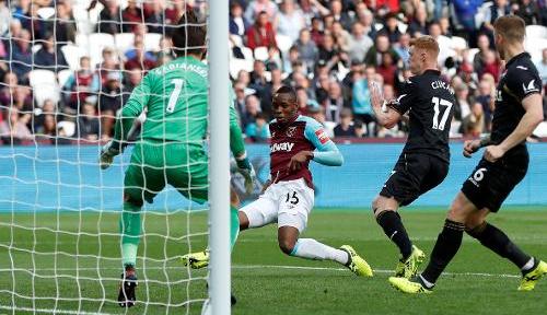 Foto Gol Telat Amankan Kemenangan West Ham