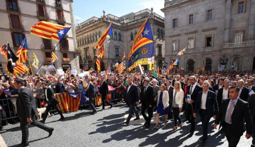 Foto Spanyol: Berkali-kali Kami Katakan, Referendum Catalonia itu Ilegal
