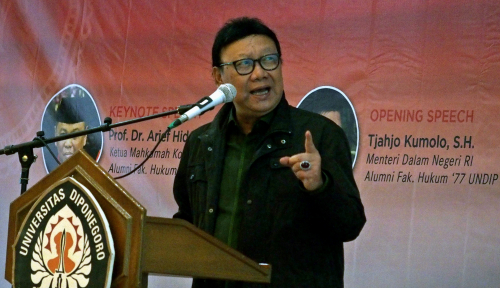 Foto Indeks Demokrasi Jakarta Turun Drastis, Mendagri: Karena Isu SARA dan Hoax