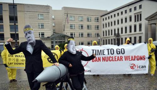 Foto Kampanye Anti-Nuklir ICAN Menangkan Nobel Perdamaian 2017