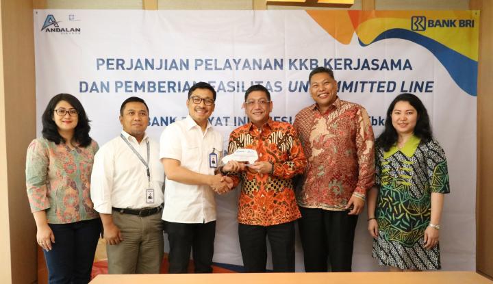 Foto Berita Andalan Finance Raih Fasilitas Kredit Rp500 Miliar dari BRI