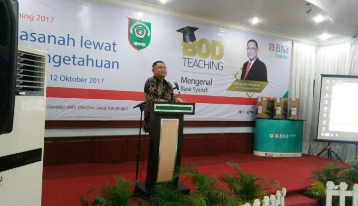 bos bni syariah kenalkan industri keuangan syariah ke pelajar medan