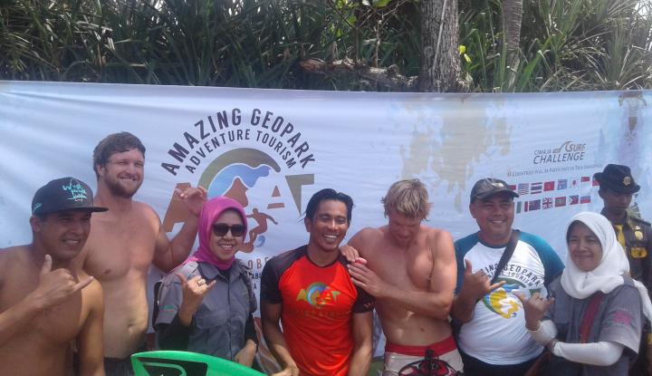 14 peselancar dunia ikuti ajang amazing geopark adventure tourism