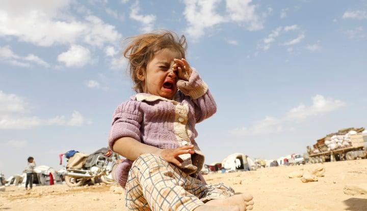 Foto Berita 350 Juta Lebih Anak-anak Tinggal di Zona Perang