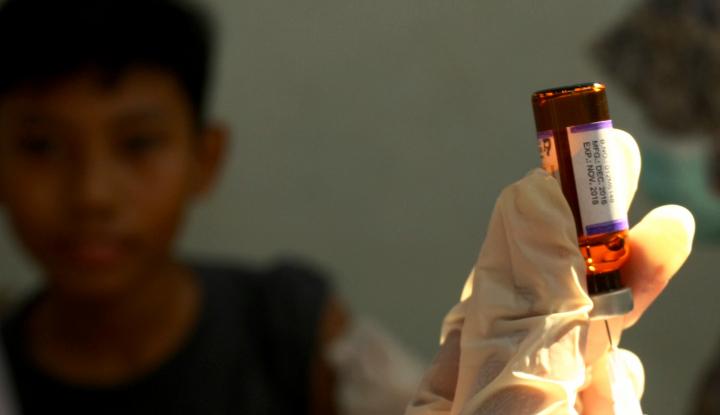 Foto Berita Dinkes Targetkan 800 Ribu Lebih Anak Terima Vaksin MR