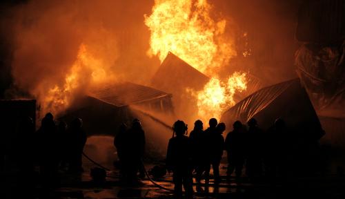 Foto Kebakaran di Distrik Arso Telan 1 Korban Jiwa