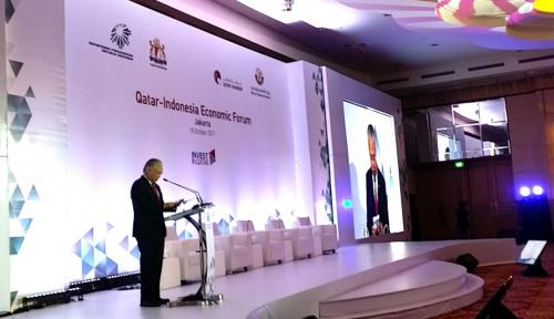 Foto Di Jakarta, Indonesia-Qatar Gelar Forum Ekonomi Bersama