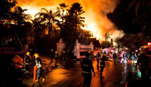 Foto Kebakaran Apartemen di Ho Chi Minh Tewaskan 13 Orang