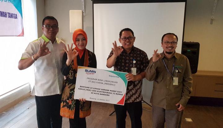 Foto Berita Wujudkan Bandung Sehat, Bio Farma Bangun MCK di 15 Titik