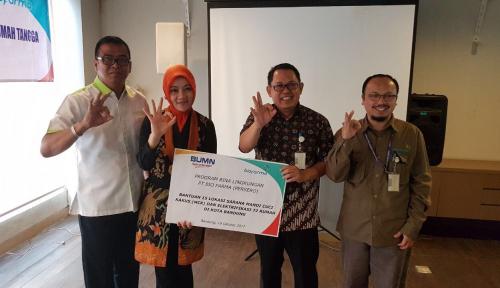 Foto Wujudkan Bandung Sehat, Bio Farma Bangun MCK di 15 Titik