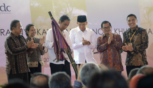 Foto Saat Pidato, Presiden Titip Pesan ke Pengelola Mandalika