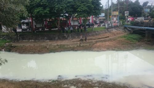 Foto Buang Limbah ke Sungai, PDAM Balikpapan Karena Buang Limbah Kena Semprot