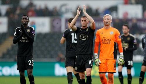 Foto Stoke Tahan Imbang Leicester 1-1