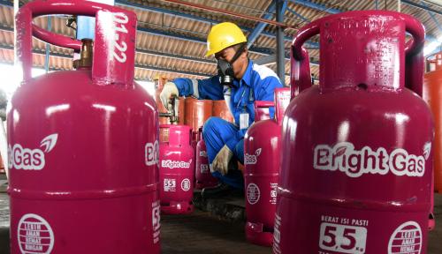 Foto Penggunaan Bright Gas 5,5 Kg Diklaim Naik 83%