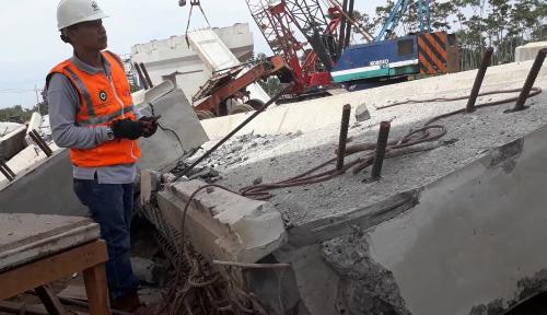 Foto Pembangunan Tol Jakarta-Cikampek II Dihentikan