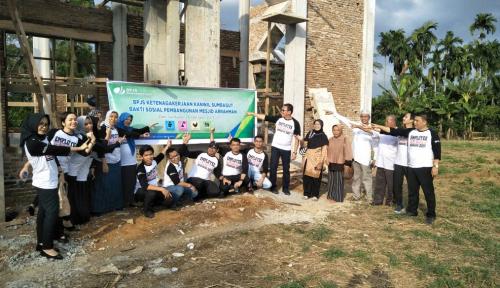 Foto BPJS Ketenagakerjaan Sumbagut Bantu Bangun Masjid di Deliserdang