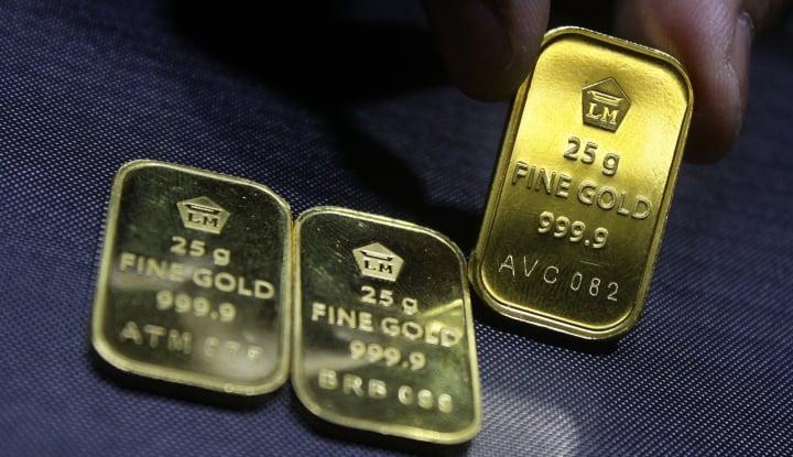 Foto Berita Emas Terus Meroket, Karena Dolar AS Merosot