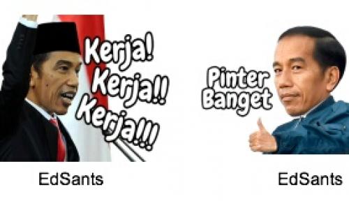 Foto Edisi Sumpah Pemuda, Sticker Jokowi di LINE Sudah Bisa Diunduh