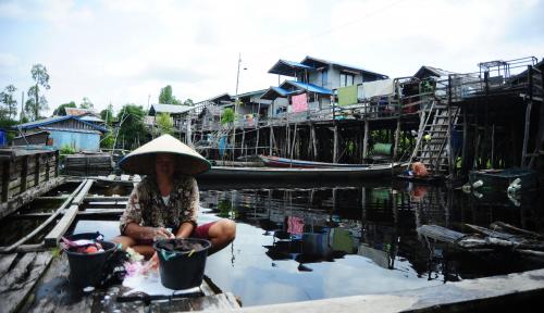 Foto Harga Pangan Terjaga, Kemiskinan Menurun