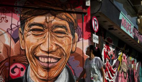 Foto Survei: Jokowi Masih Unggul Dibanding Prabowo