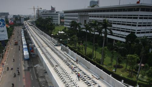 Foto Wagub Senang Proyek MRT Berjalan Lancar