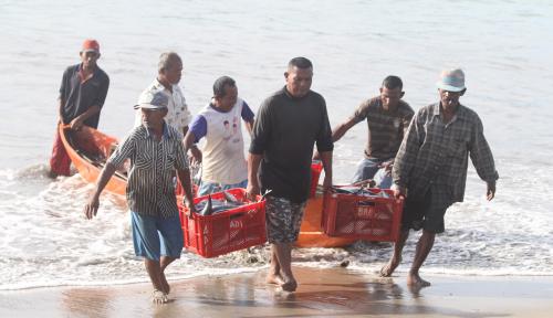 Foto Masuki Musim Panen Kakap Merah, Pendapatan Nelayan Lebak Meningkat