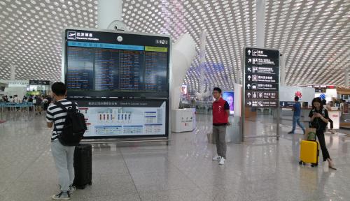 Foto Wow, Bandara di Shanghai Sudah Terapkan Check-In Via Pengenalan Wajah