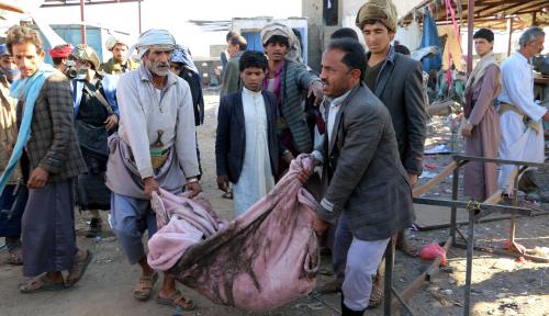 Foto Delapan Wanita dan Dua Anak Tewas dalam Serangan Udara Mematikan di Yaman