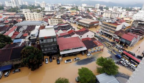 Foto Banjir Rendam 9 Desa di Lombok Tengah