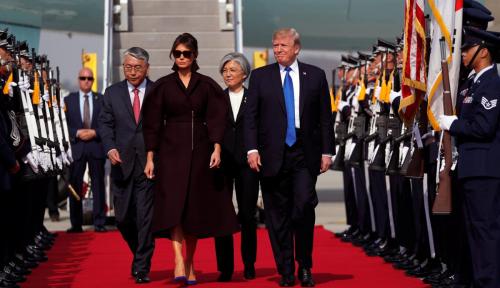 Foto Presiden Korsel: Hubungan dengan AS Kuat dan Solid