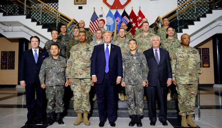 Foto Berita Trump-Kim Jong-un Mau Bertemu, AS-Korsel Malah Latihan Militer Bersama Lagi