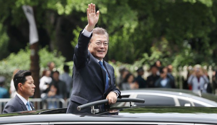 Foto Berita Moon Jae-in: Berkat Trump, Dialog Korea Selatan-Korea Utara Dapat Terlaksana