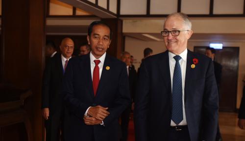 Foto PM Australia Sebut Jokowi Sebagai 'Role Model'