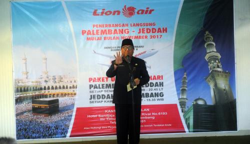 Foto Sekda Sumsel Resmikan Penerbangan Umroh Langsung Palembang-Jeddah