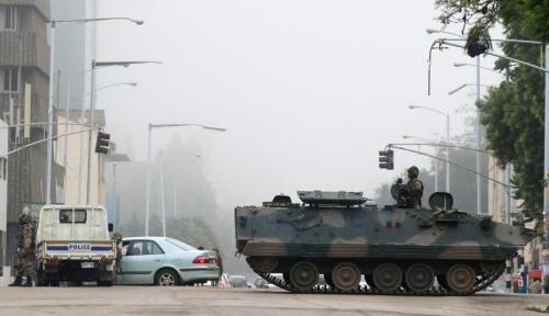 Foto Uni Afrika: Aksi Militer di Zimbabwe Layaknya Sebuah Kudeta