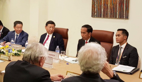 Foto Di KTT ASEAN, Indonesia Tawarkan Role Model Pengentasan Kesenjangan