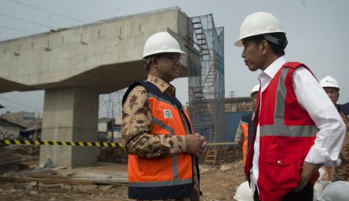 Foto Pembangunan Infrastruktur, Jokowi: Jangan Andalkan APBN Terus